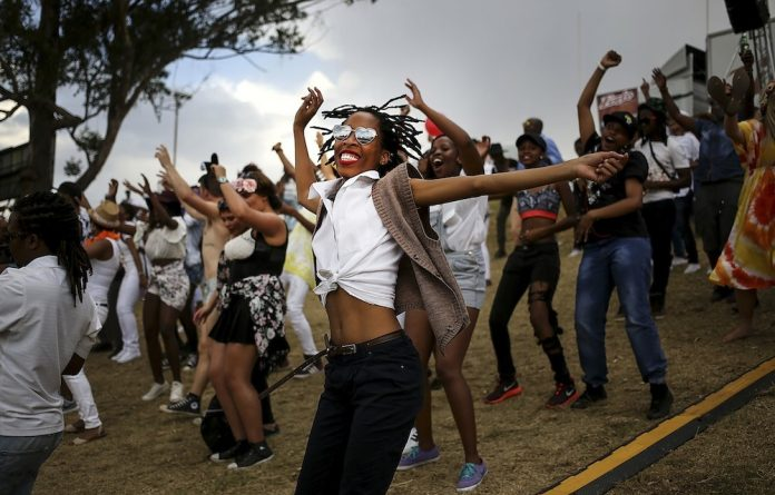 People during the Jo'burg Pride on October 31