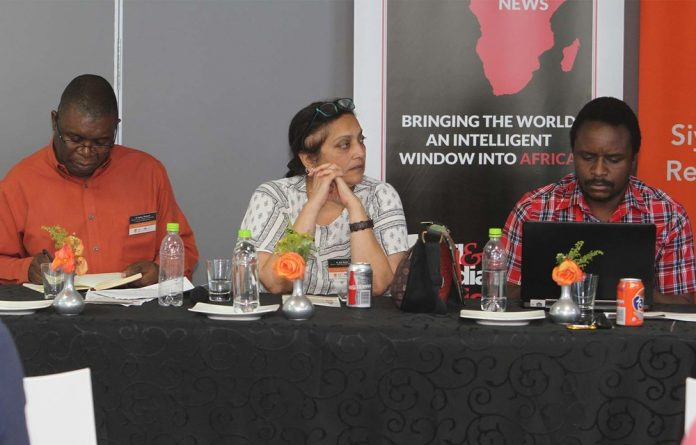 Panellists at the symposium Decolonising Knowledge Thought Leadership Series: The Curriculum and Future University organised by the University of Johannesburg's Division for Internationalisation.