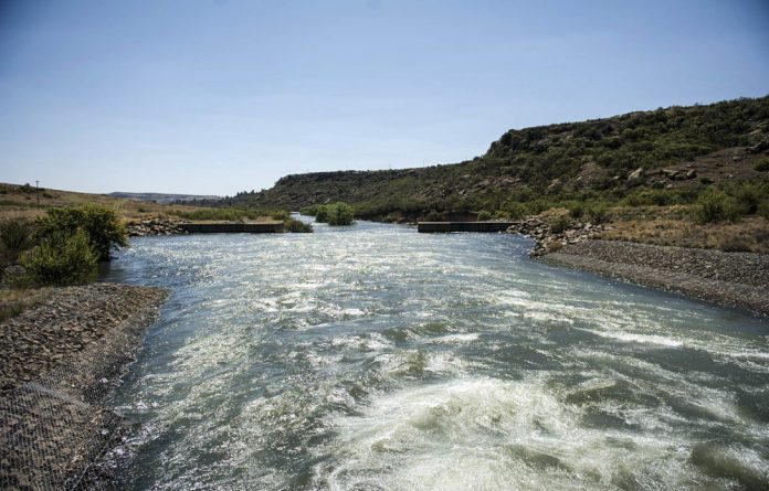 The Little Caledon bypass runs water into Gauteng.