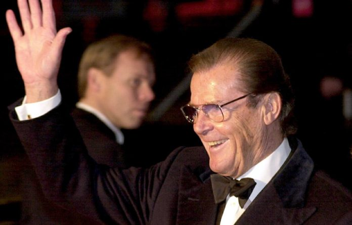 James Bond actor Roger Moore.