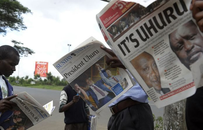 Uhuru Kenyatta is due to be sworn into office by Kenya's Chief Justice Willy Mutunga at 1100 GMT