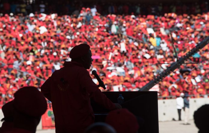 The EFF has slammed the ruling party's championing of radical economic transformation