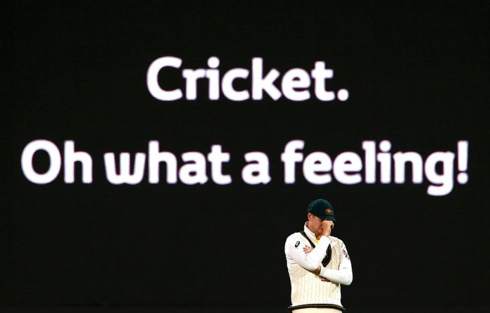 Australia's captain Steve Smith reacts during the fourth day of the second Ashes cricket test match.