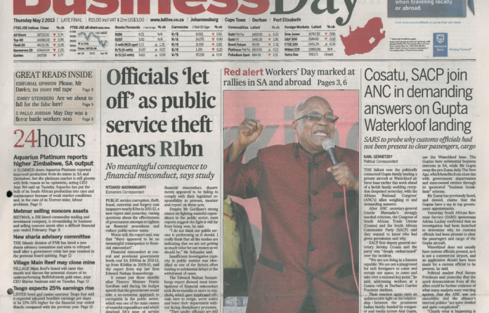 This sales agreement will see Pear­son hold sway over who is appointed editor of Business Day and the Financial Mail.