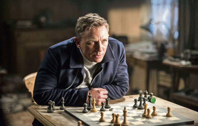 Daniel Craig comes out guns blazing after miraculously escaping a plan crash in Spectre.