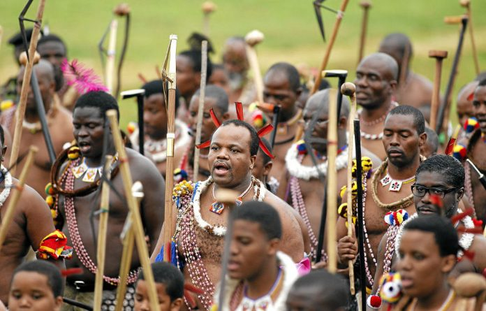 Right royal shambles: A new film about Swaziland seems seems to suggest that King Mswati III's regime is atrophying of its own record.