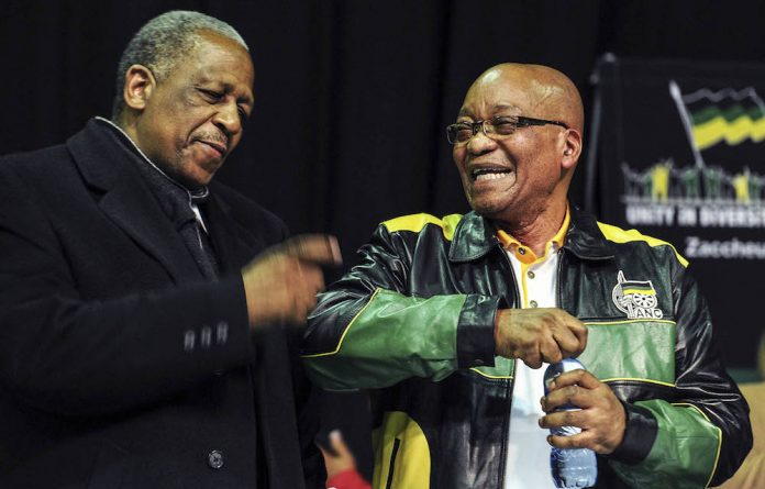 Happier times: President Jacob Zuma and Mathews Phosa at the ANC's June 2012 policy conference.