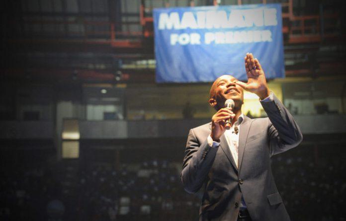 DA Gauteng premier candidate Mmusi Maimane.