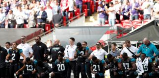 NFL players from many teams have knelt or linked arms in protest during the playing of the national anthem.