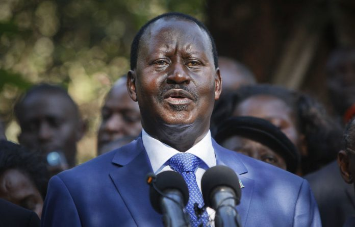 Kenyan presidential candidate Raila Odinga