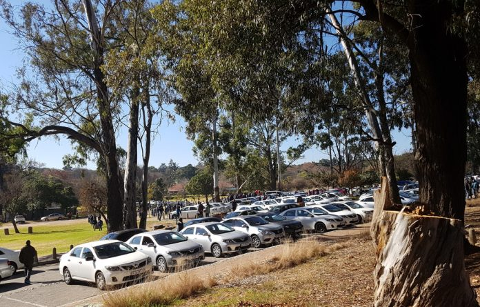 A mass meeting of Uber and Taxify drivers took place at Zoo Lake in Johannesburg on Monday