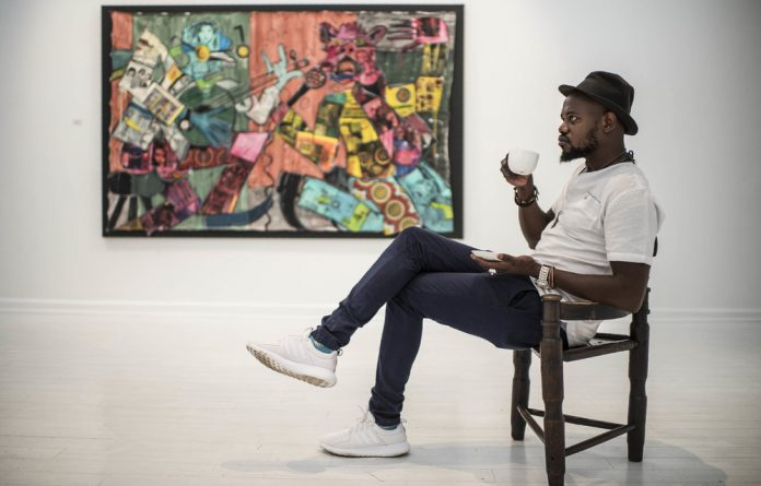 To err: Blessing Ngobeni contemplates the power of failure in his exhibition A Note from Error. Photo: Paul Botes