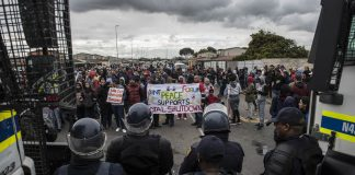 Wednesday's march was held following last week's #ShutdownCapeTown protests against gangsterism poverty and unemployment