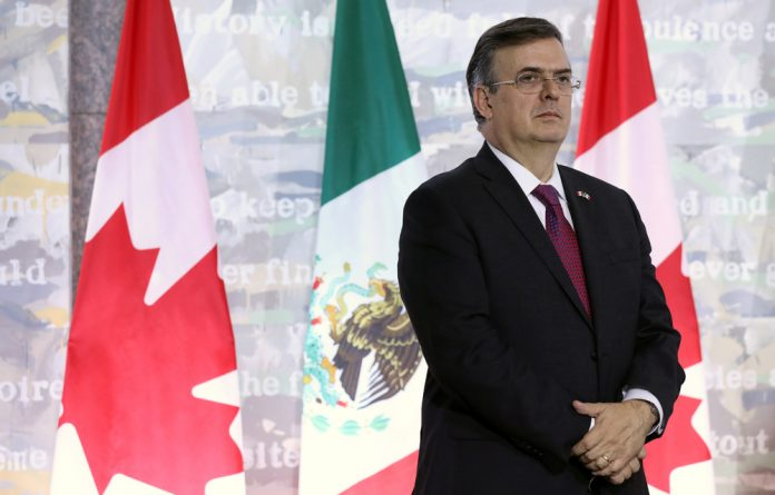 Mexican foreign minister Marcelo Ebrard.