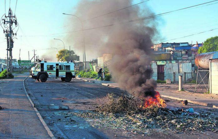 Service delivery protests in Khayelitsha.