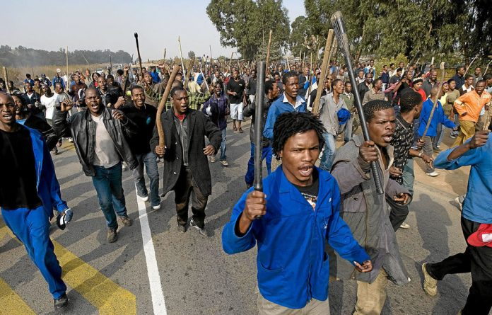 Residents run riot during the xenophobic violence.
