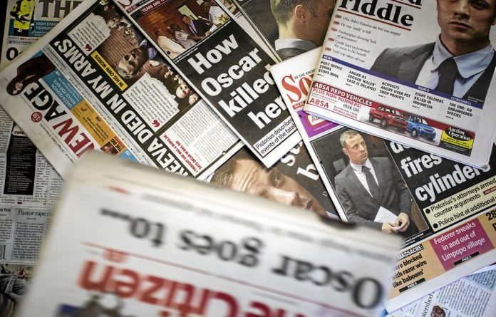The Oscar Pistorius case was featured on may front pages of both local and international papers.
