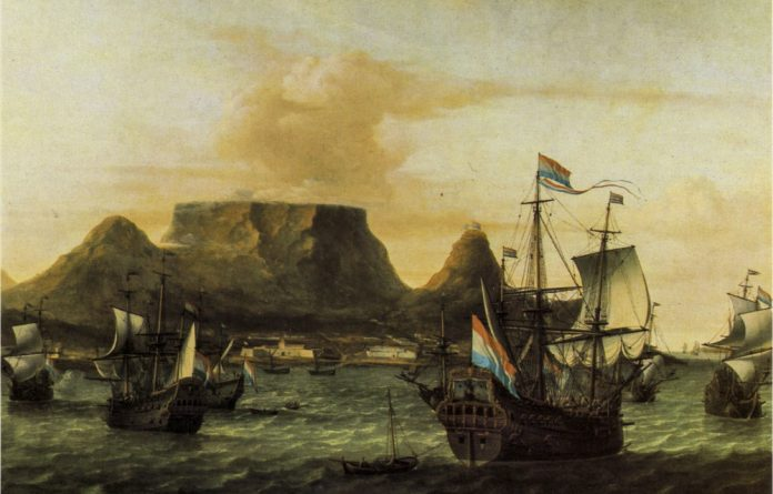 Times gone by: Dutch and English ships sought safe harbour in the Cape's Table Bay
