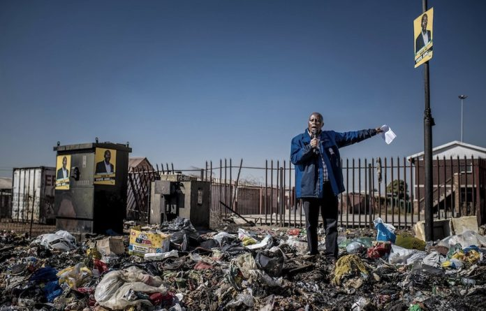 Trash-talking: Johannesburg mayor Herman Mashaba is unrepentant about comments he made about foreign nationals with no papers 'holding our country to ransom'.