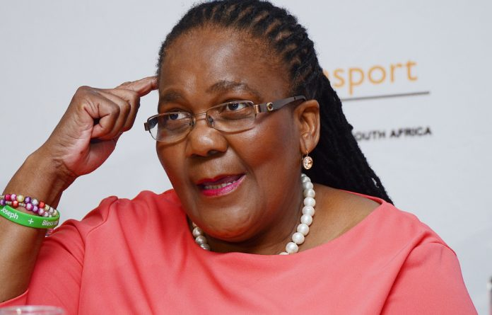 Transport Minister Dipuo Peters.