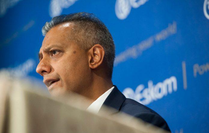 Eskom chief financial officer Anoj Singh.