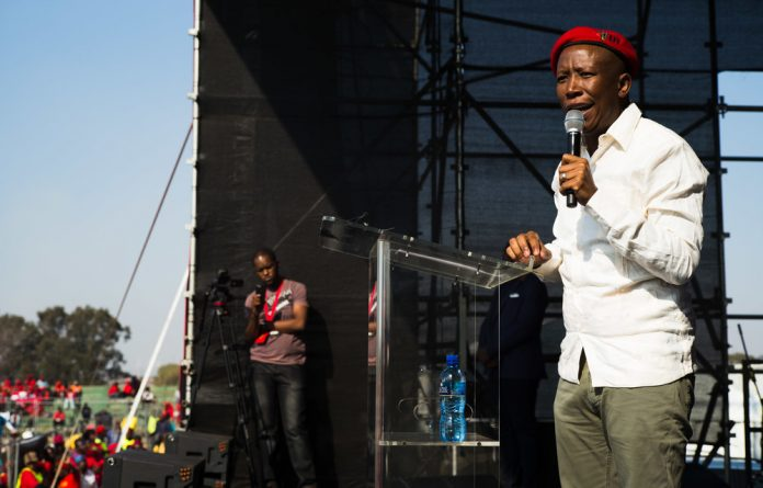 Julius Malema during his Youth Day address.