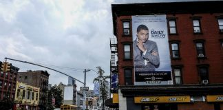 Back story: A hoarding advertises Trevor Noah on  Comedy Central's The Daily Show