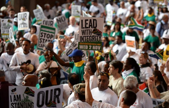 CEOS and activists united under the Save South Africa campaign against President Jacob Zuma and the Gupta family