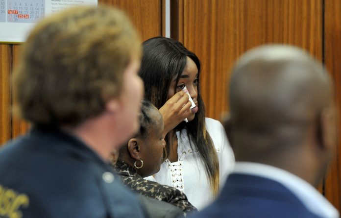 Cheryl Zondi during the trial this week.