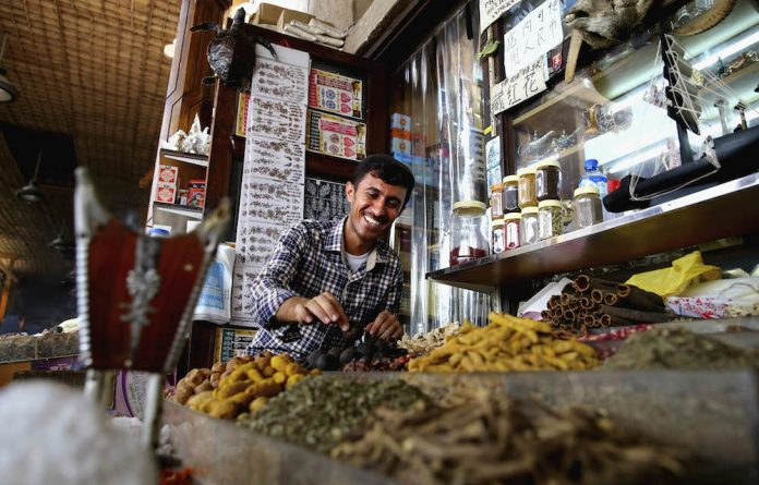 A city of contrasts: The spice souk seems a different world from the better-known Burj Khalifa Lake and the Dubai Mall.