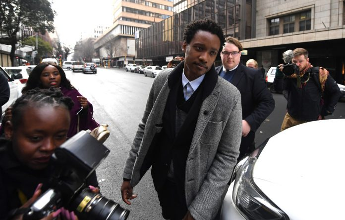 Duduzani Zuma during his appearance at the Johannesburg Commercial Crime Court on Monday.