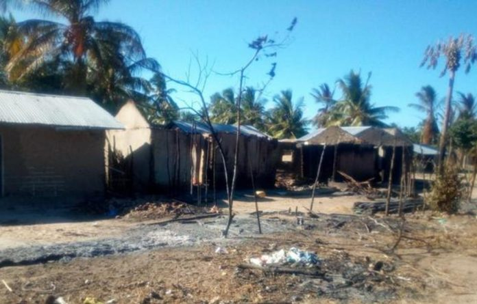 Mucojo village in Mozambique's Macomia province saw houses destroyed by armed groups