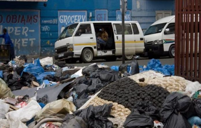 Residents and business owners in all areas of Johannesburg were told not to bring out their bins until further notice.