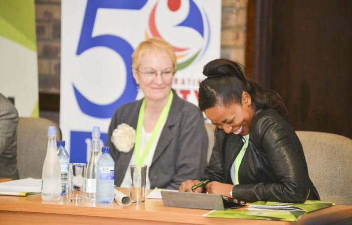 A lighter moment during the SATN Conference
