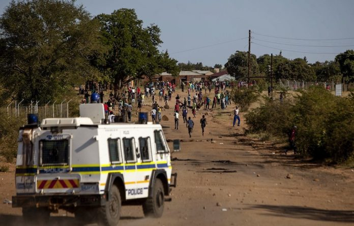 Burning issue:  Reinforcements have been called in to quell protests in Vuwani over a municipal boundary dispute.