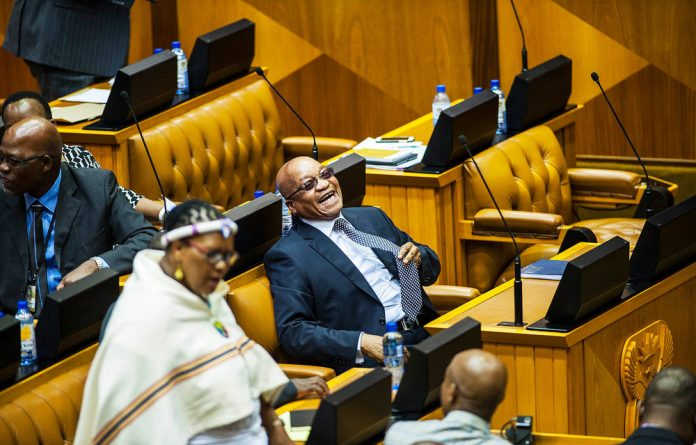 Things are looking less funny this week for President Zuma.