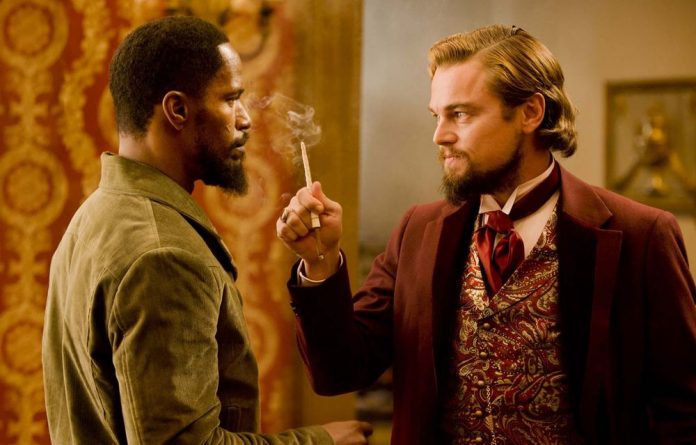 Jamie Foxx and Leonardo DiCaprio star in Django Unchained.