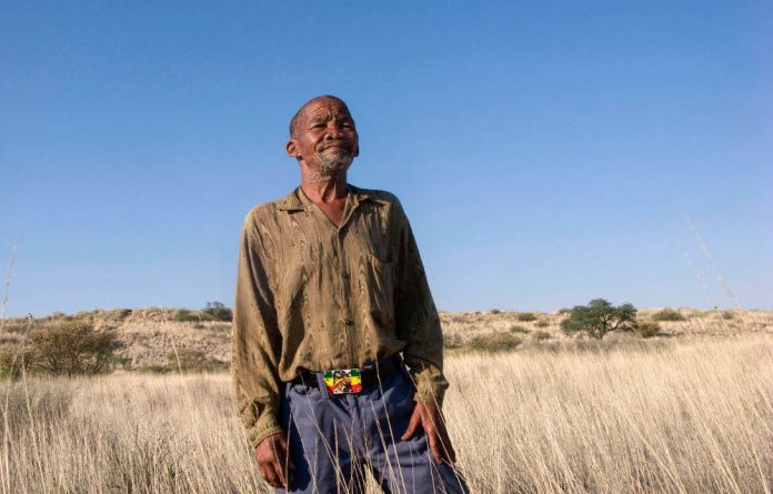 Dawid Kruiper led the way for successful land claims for Bushmen in South Africa.