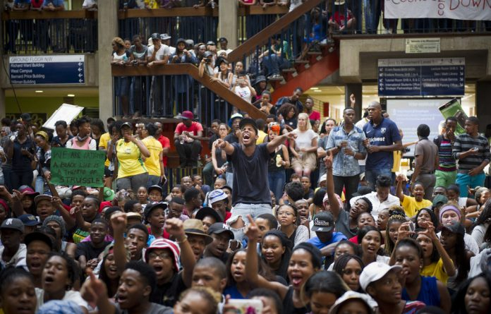 Wits students fill up Senate House.