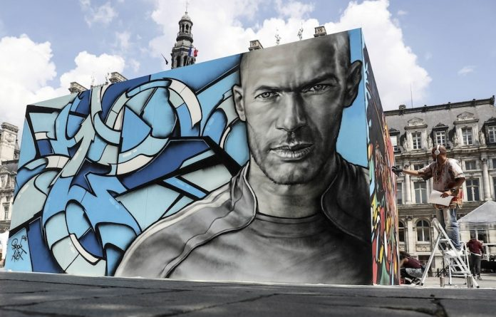 Inspiration: A painting of Zinedine Zidane