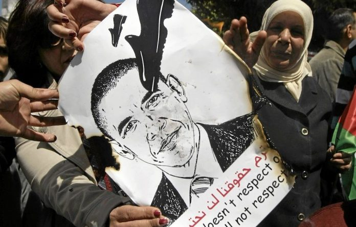 Under fire: Barack Obama has angered Palestinians