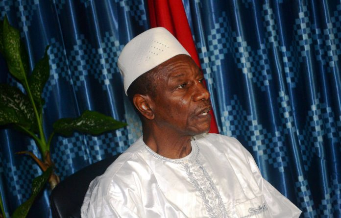Guinea's President Alpha Conde.