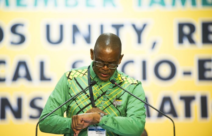 Ace Magashule's backers sing his praises before the ANC's top six were announced. He was elected secretary general but some delegates contest this because they couldn't vote.
