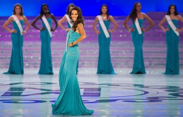 Miss Spain Aranzazu Godoy parades during the Miss World 2012 pageant.