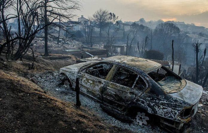 Houses in the Knysna Heights area were destroyed in the fires on June 9 2017.