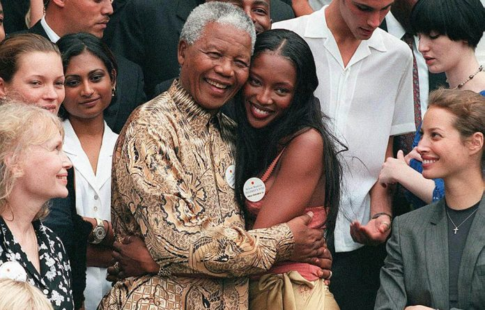 Madiba with supermodel Naomi Campbell.