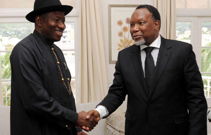 President Goodluck Jonathan and Deputy President Kgalema Motlanthe.