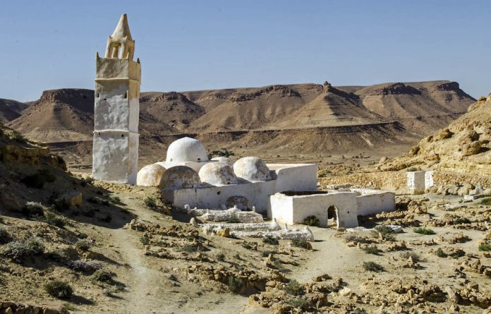 A mosque in a Tunisian mountain village.