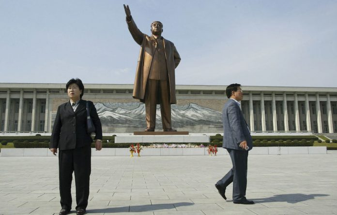 Awesome: The statue of late North Korean president Kim Il-Sung at the Mansudae assembly hall. The sprawling local arts studio specialises in this kind of commission. Photo: Chung Sung-Jun/Getty Images