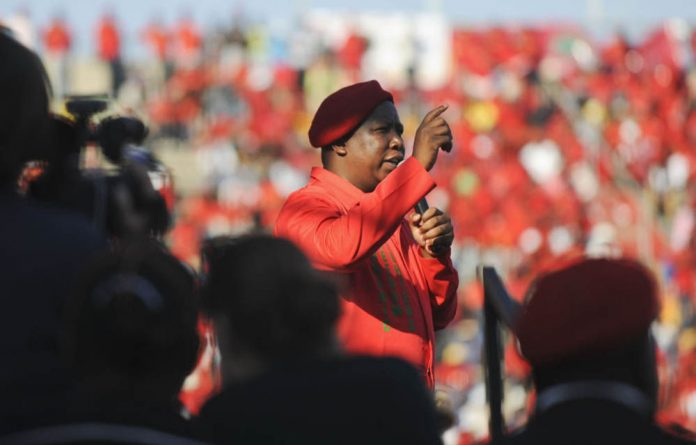 At the EFF's final rally